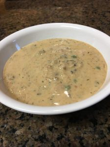 Mushroom soup jazzed with Hungarian Paprika warms your body and soul